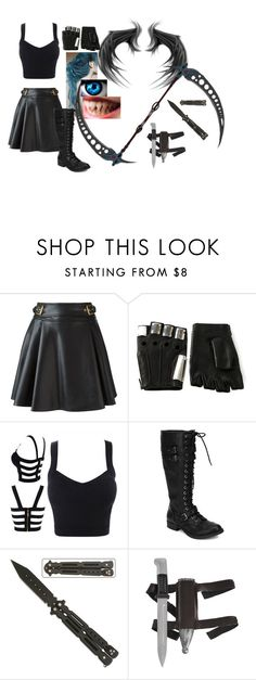 """""""outfit #39 (Eyeless)"""" by eyeless-angel-of-death ❤ liked on Polyvore featuring Roberto Cavalli, Majesty Black and Beston"""
