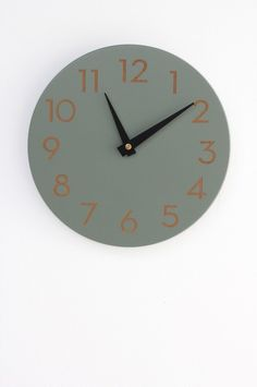 Amazon.com - Modern Wall Clock by Uncommon Handmade (Poppy Red) -