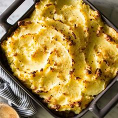 The creamy chicken filling is spiked with sherry and the potatoes are mashed with olive oil in this healthy shepherd's pie recipe. To make individual pies, use six 10-ounce ramekins.