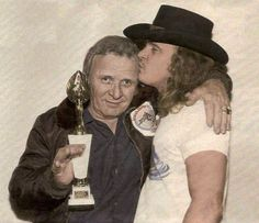 Ronnie Van Zant and his dad, Lacy. Mr. Van Zant loved Ronnie so much, and he was devastated by that loss until the day he died. I'm sure that Ronnie greeted him with open arms...that's how I'd like to envision it...