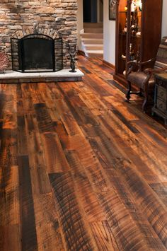 LOVE!!!!!! Reclaimed Oak Flooring | Hit Skip Oak Flooring | Olde Wood