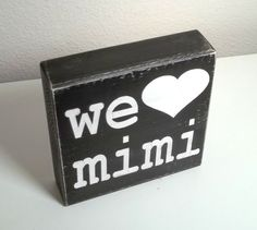 Custom We Heart Mimi Mom Grandma You Choose by blockpaperscissors, $10.00
