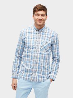 Tom Tailor Hemd »kariertes Hemd mit Brusttasche« für 39,99€. Kariertes Hemd mit Brusttasche, Aus Popeline, Mit ganzflächigem Karomuster bei OTTO