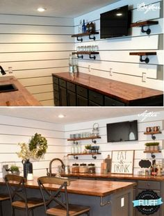 Amazing basement bar ideas are here to inspire you into sprucing up your home with new and exciting enterntainment options, are you ready? Basement Makeover, Basement Renovations, Home Remodeling, Basement House, Basement Bedrooms, Basement Plans, Basement Bathroom, Basement Ceilings, Small Basement Bars