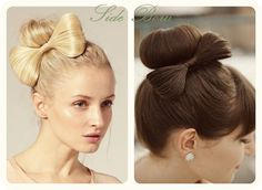 5 DIY Hair Bow Ideas and Creations Collection cute and easy side hair bow hairstyle
