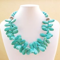 Statement Turquoise Necklace  Turquoise by BigSkiesJewellery, $58.00