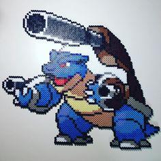 Mega Blastoise - Pokemon perler beads by philthyturtle