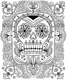 Best Halloween Coloring Books For Adults Adult PagesColoring BooksHalloween ColoringColor SheetsDay Of The DeadZentangleSugar