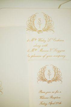 The wedding invitation of a classic Crane bride — @Style Me Pretty