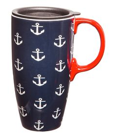 Another great find on #zulily! Anchors 17-Oz. Latte Travel Cup by Cypress Home #zulilyfinds