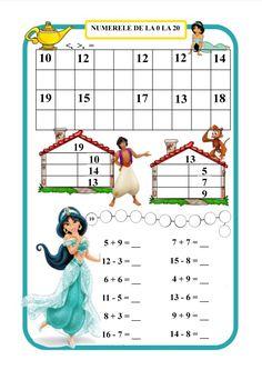 Fișă de lucru 1 Montessori Math, Preschool Curriculum, Preschool Worksheets, Math Classroom, Teaching Math, Math Activities, Preschool Activities, Kindergarten Math, Mental Maths Worksheets