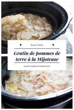 Gratin de pommes de terre à la mijoteuse. #pommesdeterre #patate #potatoes #crockpot #mijoteuse #easy #facile #gratin Mashed Potatoes, Oatmeal, Slow, Breakfast, Ethnic Recipes, Foodies, Easy, Canada, Apples