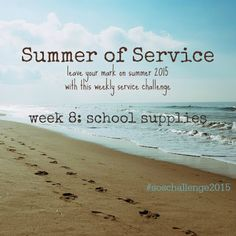 While I'm Waiting...: Summer of Service - week 8: school supplies