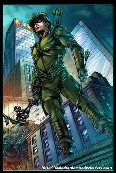 Arrow artwork by Thiago Lima colors by Diabolumberto. Dc Heroes, Comic Book Heroes, Comic Books Art, Comic Art, Dc Comics Characters, Dc Comics Art, Green Arrow Comics, There Goes My Hero, Arrow Black Canary