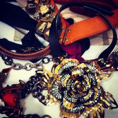 Lanvin jewelry backstage at the flagship.