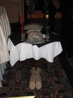 I want to do this... A remembrance or POW table at weddings. Not just for family but for all those who made the ultimate sacrifice