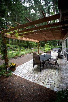Love this Paver patio and Pergola