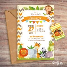 Jungle Theme Birthday, Safari Theme Party, Baby Birthday, 1 Year Birthday Party Ideas, Birthday Party Decorations Diy, Safari Invitations, Birthday Invitations, Baby Shower Games, Baby Boy Shower