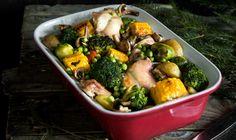Рецепт - Праздничный кролик, запеченный с овощами
