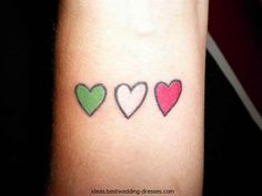 cute italian flag hearts tattoo - remembrance for my nonno, and where i came from