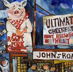 Pig up Close. Johns Roast Pork, Philadelphia