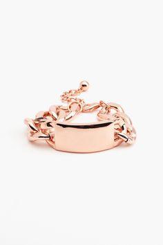 New Identity Bracelet - Rose Gold  $20.00