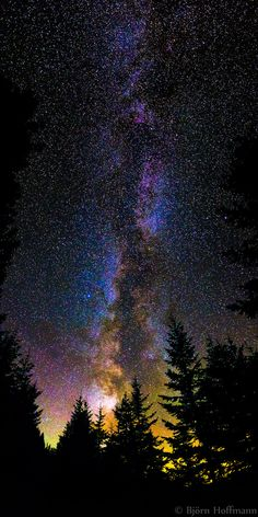 """This is my first ever panorama of the Milky Way! I changed my normally used fisheye with a Sigma 19mm lens and took 6 vertical 25sec exposures that I stitched with Hugin afterwards.  It was a very special night in the Austrian Alps with perfect conditions: absolutely clear air, no clouds, no wind, it was cold and luckily I had all my gear with me.  The yellow light on the bottom seems to come from the """"Bodensee"""" which was something like 40km away."""