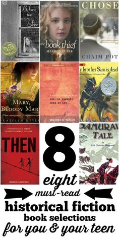 8 Historical Fiction Books for Teens and Parents via Tipsaholic.com
