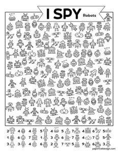 Free Printable I Spy Robots Activity - Paper Trail Design