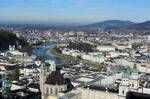 Salzburg view from the castel in January of 2012