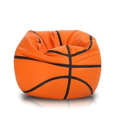 Made with a durable faux leather and packed with polystyrene beads for superb comfort, this basketball bean bag will give your kid's room a fun and unique look. The bean bag supports a child's full body and aligns to fit it perfectly.Large Basketball Bean Bag Chair