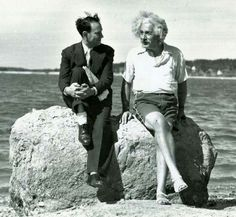 Einstein chilling out on Long Island, 1939.