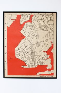 Ooooh.  Sold out at etsy.  Hope they make more. brooklyn map