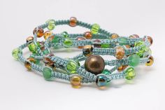 Groene Wrap armband  Tsjechisch glas kralen door RichBerryJewelry