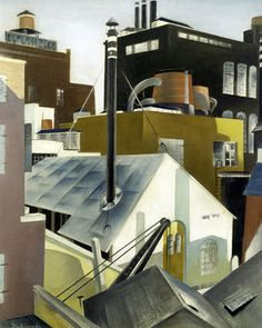 """Preston Dickinson """"Industry 1923"""" The Whitney Collection"""