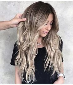 Long Layers With Dirty Blonde Ombre Hair # Long . Long Layers With Dirty Blonde Ombre Hair # Longhair ❤️ Dir … Balayage Hair Ombre, Blond Ombre, Ombre Hair Color, Brown Blonde Balayage, Brown Hair With Blonde Ombre, Blonde Long Hair, Blonde Hair With Dark Roots, Blonde Highlights On Dark Hair All Over, Baylage Blonde