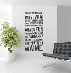 Urban Walls Quand les stickers muraux parlent Dans cette maison. A partir de 58 x 127 cm pour 40 euros, Uwdecals.com