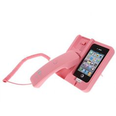 Cheap KK-02 Handset Dock Stand with Hands Free for iPhone 4 , 4S , 3G / 3GS , iPhone 5 Pink (PINK)   Everbuying Mobile