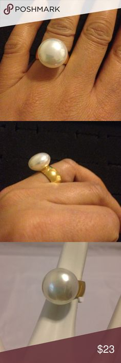 Stainless steel ring Stainless steel ring with a pearl Jewelry Rings