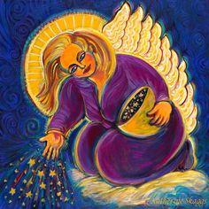 Los ángeles para la abundancia - Pintura de Katherine Skaggs