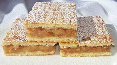 Lahodný jablkový koláč s fantastickou vláčnou chuťou: Pripravíte ho raz-dva! Hungarian Desserts, Hungarian Cake, Hungarian Recipes, Good Food, Yummy Food, Eat Seasonal, Baking And Pastry, Sweet And Salty, No Bake Desserts
