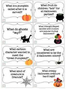 HALLOWEEN TRIVIA & GAMES ! Perfect for Halloween parties!