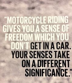 Rather ride on a Motorcycle anyday than a cage! Motorcycle Riding Quotes, Motorcycle Gear, Motorcycle Touring, Bobber, Gs 1200 Adventure, Harley Davidson, Dirtbikes, My Ride, Cars