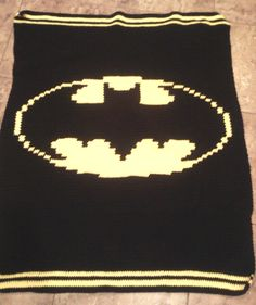 my  own project batman crochet afghan