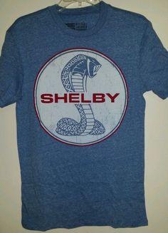 Mens Blue Shelby Cobra Logo Shirt, Size ( S )Small #Shelby #BasicTee #cobra #mustang #ford #tshirt