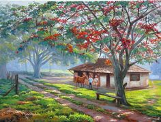 Pinturas & Cuadros: Lindos Cuadros Paisajes de Campo, Pintados por Wilson Vicente