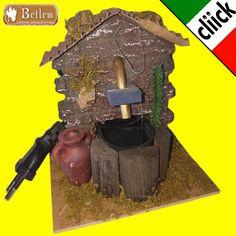 Fontana Elettrica con Pompa Acqua per presepe pastori scenario case ambienti