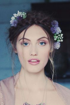 gorgeous ethereal makeup and hair Ethereal Makeup, Locks, Milkmaid Braid, Braid Crown, Plaits, Free People Blog, Ethereal Wedding, Long Braids, Gorgeous Makeup