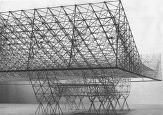 Roof Construction for United States Air Force Hangar (Model), by Konrad Wachsmann, Roof Architecture, School Architecture, Hans Poelzig, Modern Roofing, Chief Architect, Timber Buildings, Steel Roofing, Tin Roofing, Roofing Shingles
