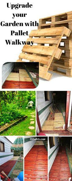 Pallet Walkway - Wooden Sidewalk Ideas - 99 Pallets
